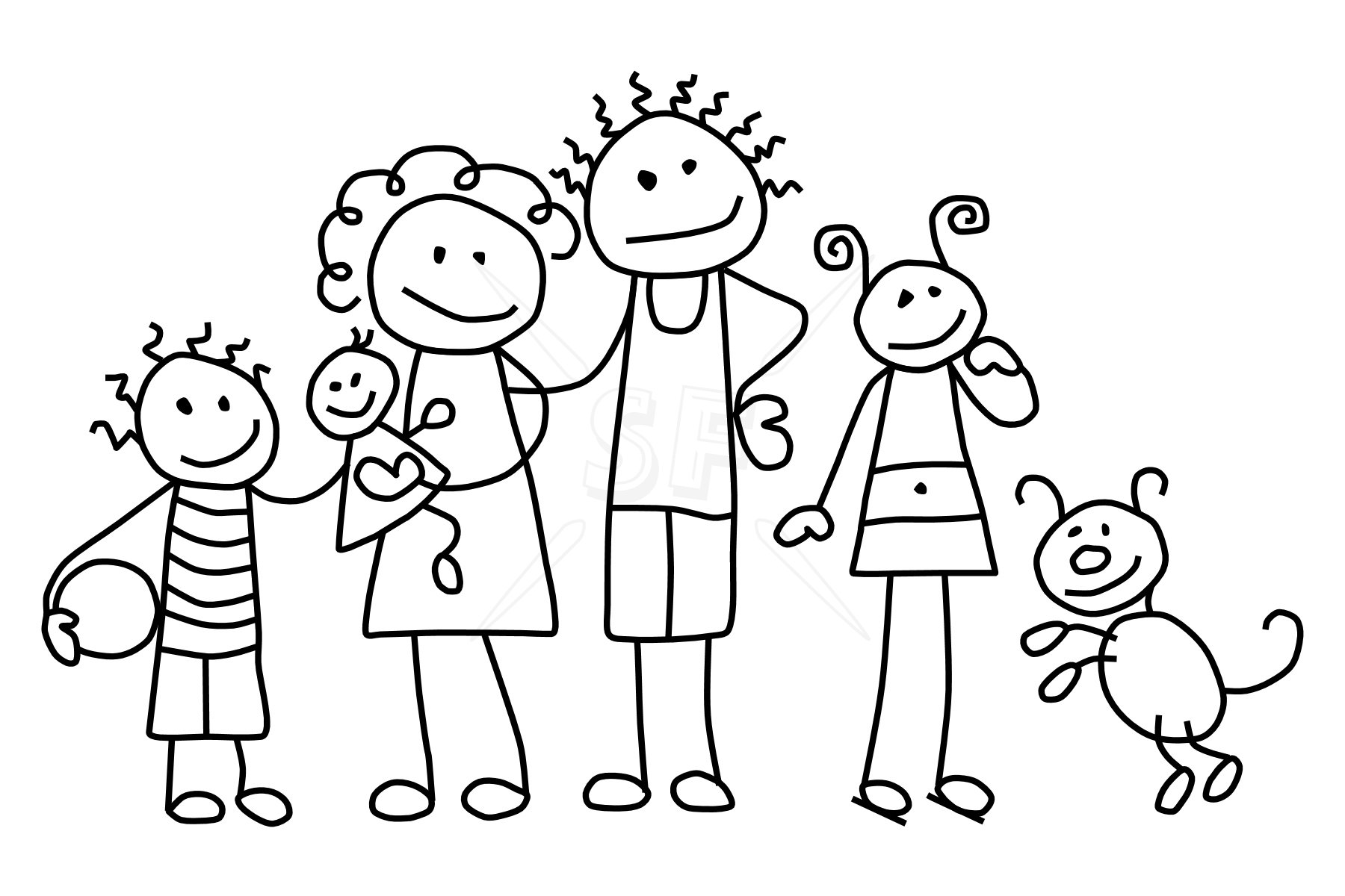 Free Family Day Coloring Pages